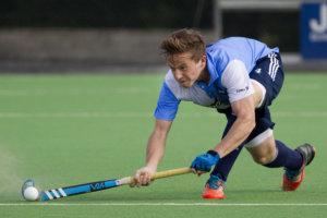 Amsterdam - Hurley - Rotterdam, Hoofdklasse Hockey Heren, Seizoen 2014-2015, 14-09-2014, Hurley - Rotterdam 1-6, David Forsyth.
