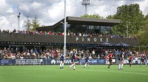 Amstelveen - Clubhuis Pinoke, tijdens de tweede play out wedstrijd tussen de vrouwen van Pinoke en Nijmegen (4-1). © 2015 Koen Suyk