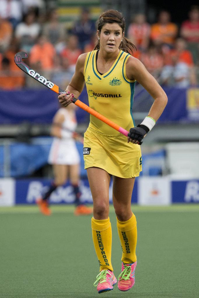 THE HAGUE - Rabobank Hockey World Cup 2014 - 07-06-2014 - WOMEN - AUSTRALIA - THE NETHERLANDS 0-2 - Anna Flanagan. Copyright: Willem Vernes