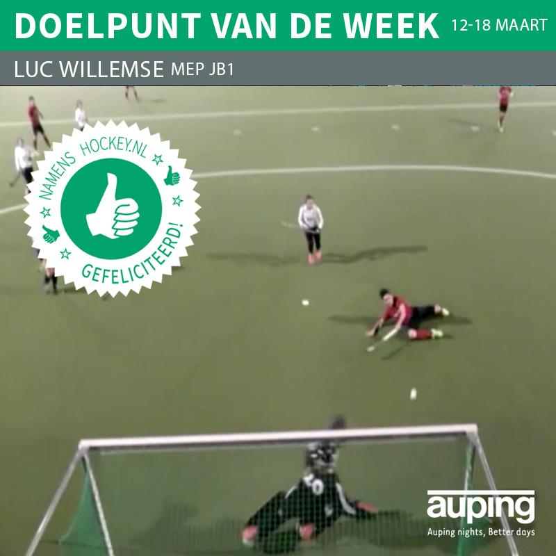 Luc Willemse Doelpunt vd Week