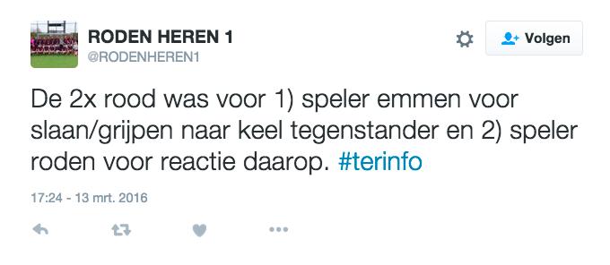 Tweet Roden Heren 1