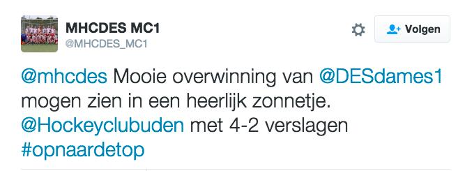 Tweet MC1 DES