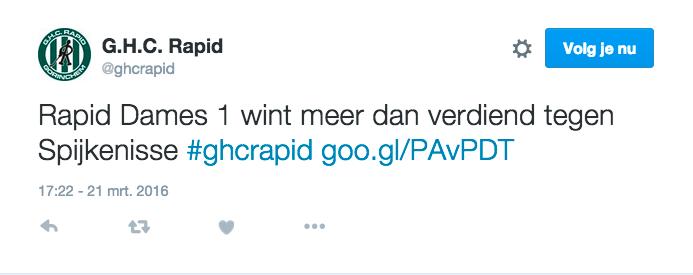 Tweet GHC Rapid
