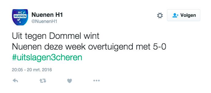 Tweet Nuenen Heren 1