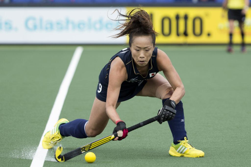 THE HAGUE - Rabobank Hockey World Cup 2014 - 2014-06-06 - WOMEN - Korea - Japan - Shihori Oikawa. Copyright: Willem Vernes
