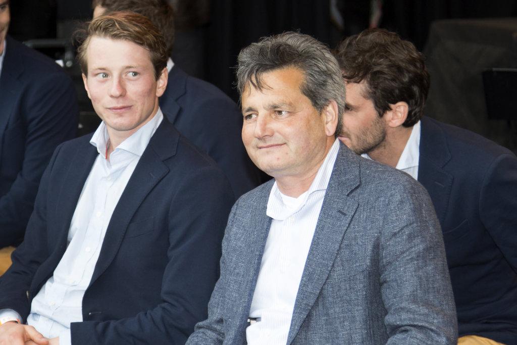 THE HAGUE - Rabobank Hockey World Cup 2014 - 19-06-2014 - HULDIGING WK HOCKEYTEAMS IN DE HOFVIJVER IN DEN HAAG - PAUL VAN ASS EN SEVE VAN ASS Copyright: Willem Vernes