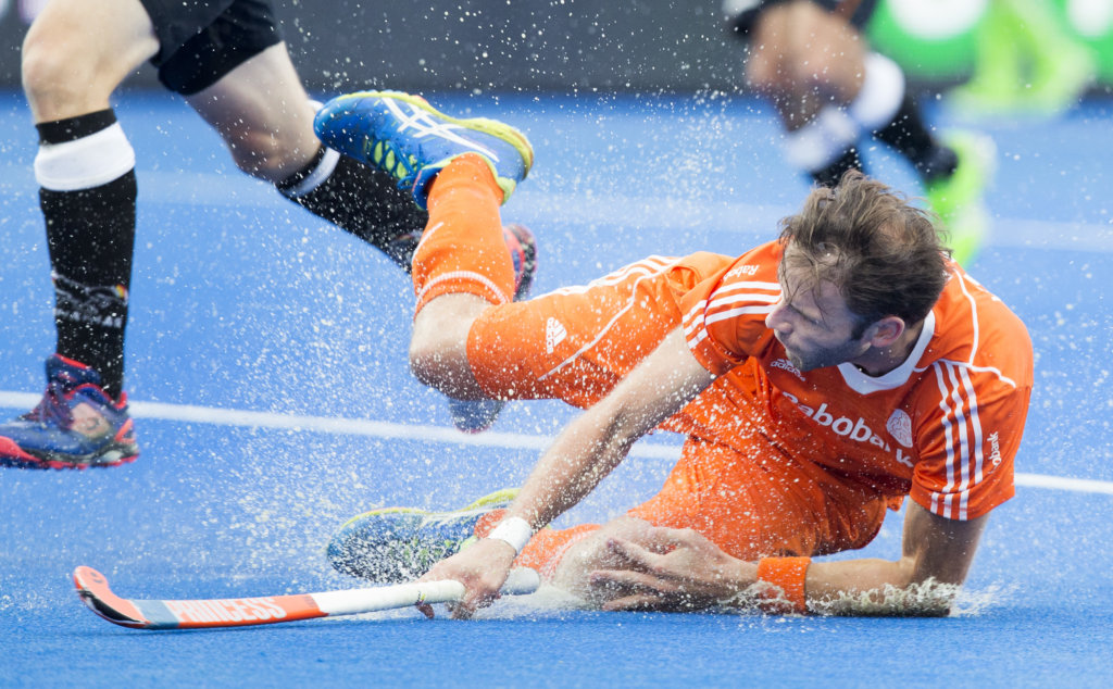 LONDON - Unibet Eurohockey Championships 2015 in London. final Netherlands-Germany (6-1) . Rogier Hofman scores . WSP Copyright KOEN SUYK