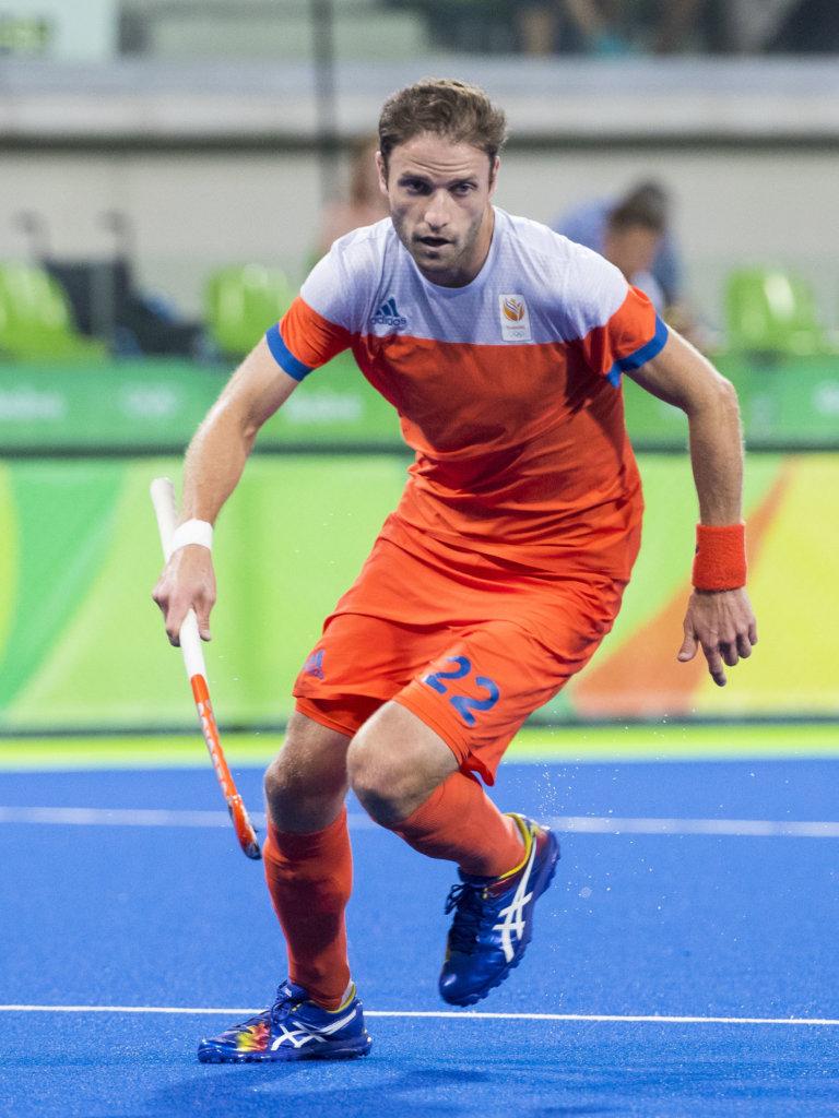 RIO DE JANEIRO - Rogier Hofman (Ned) tijdens de halve finale hockey heren Belgie-Nederland (3-1), tijdens de Olympische Spelen. B COPYRIGHT KOEN SUYK
