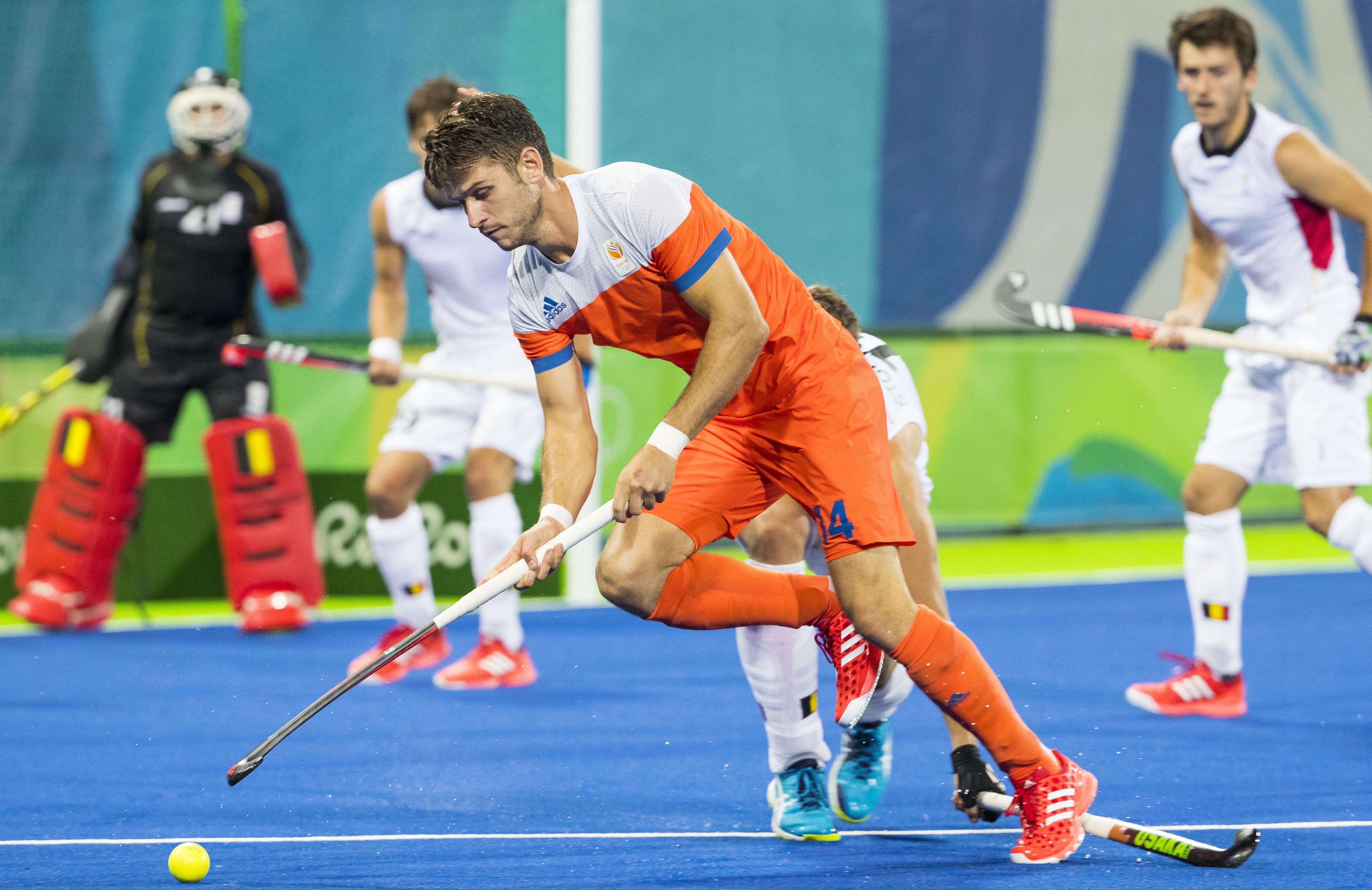 RIO DE JANEIRO - Robbert Kemperman (Ned) tijdens de halve finale hockey heren Belgie-Nederland (3-1), tijdens de Olympische Spelen. B COPYRIGHT KOEN SUYK