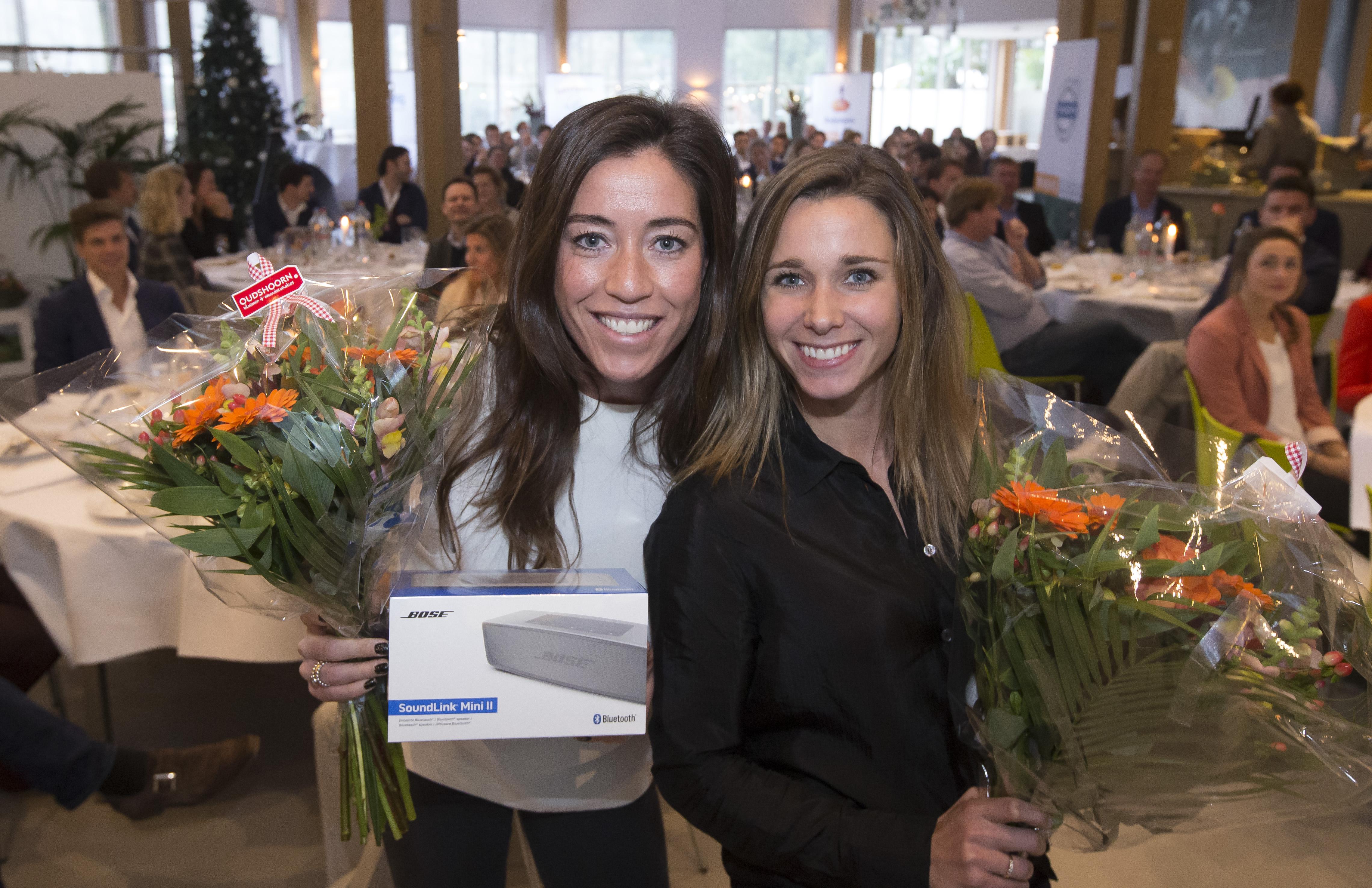 AMERSFOORT - Spelerslunch 2016 , Nederlands team . Naomi van As en Ellen Hoog, meer dan 200 interlands. COPYRIGHT KOEN SUYK