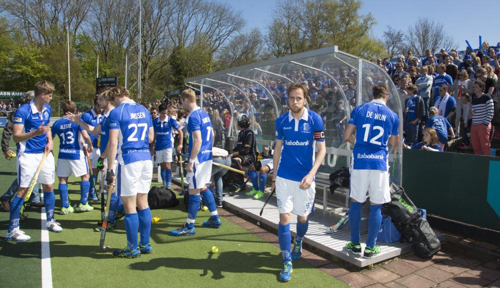 AMSTELVEEN - HOCKEY - Quirijn Caspers van Kampong (m) voor de beslissende halve finalewedstrijd van de Play offs tussen Amsterdam en Kampong (3-1). COPYRIGHT KOEN SUYK