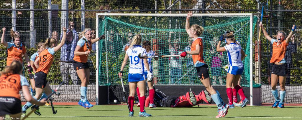 Willemijn Bos scoort de 1-0 namens Groningen