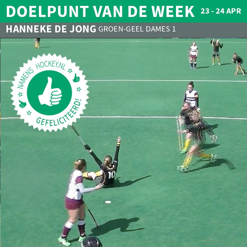 Hanneke de Jong doelpunt vd week