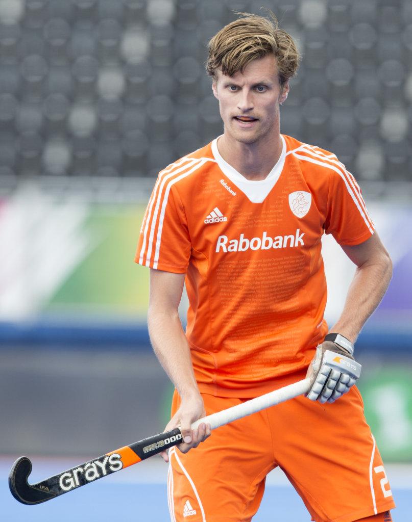 LONDEN - Hidde Turkstra tijdens de halve finale tussen de mannen van Nederland en Ierland bij het Europees Kampioenschap hockey in Londen. COPYRIGHT KOEN SUYK