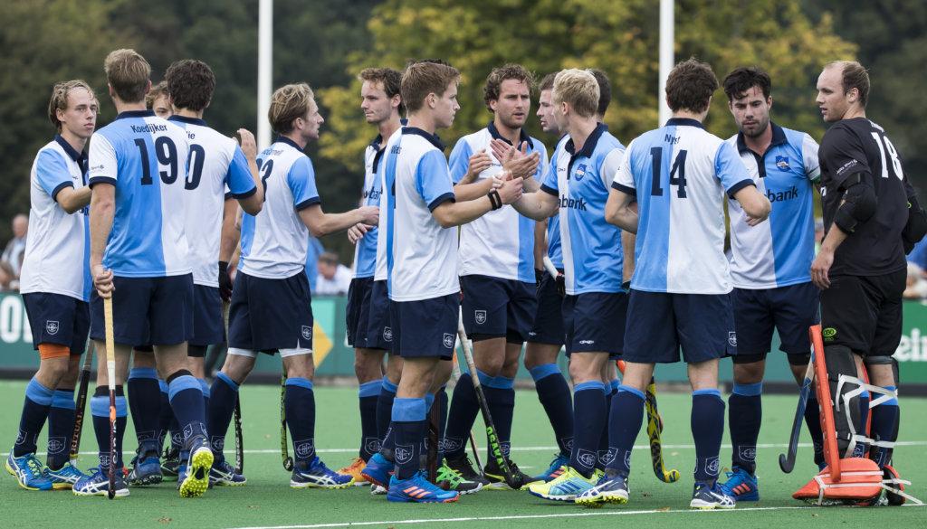 BLOEMENDAAL - Bloemendaal-Hurley (4-2) . Het team van Hurley voor de wedstrijd . COPYRIGHT KOEN SUYK