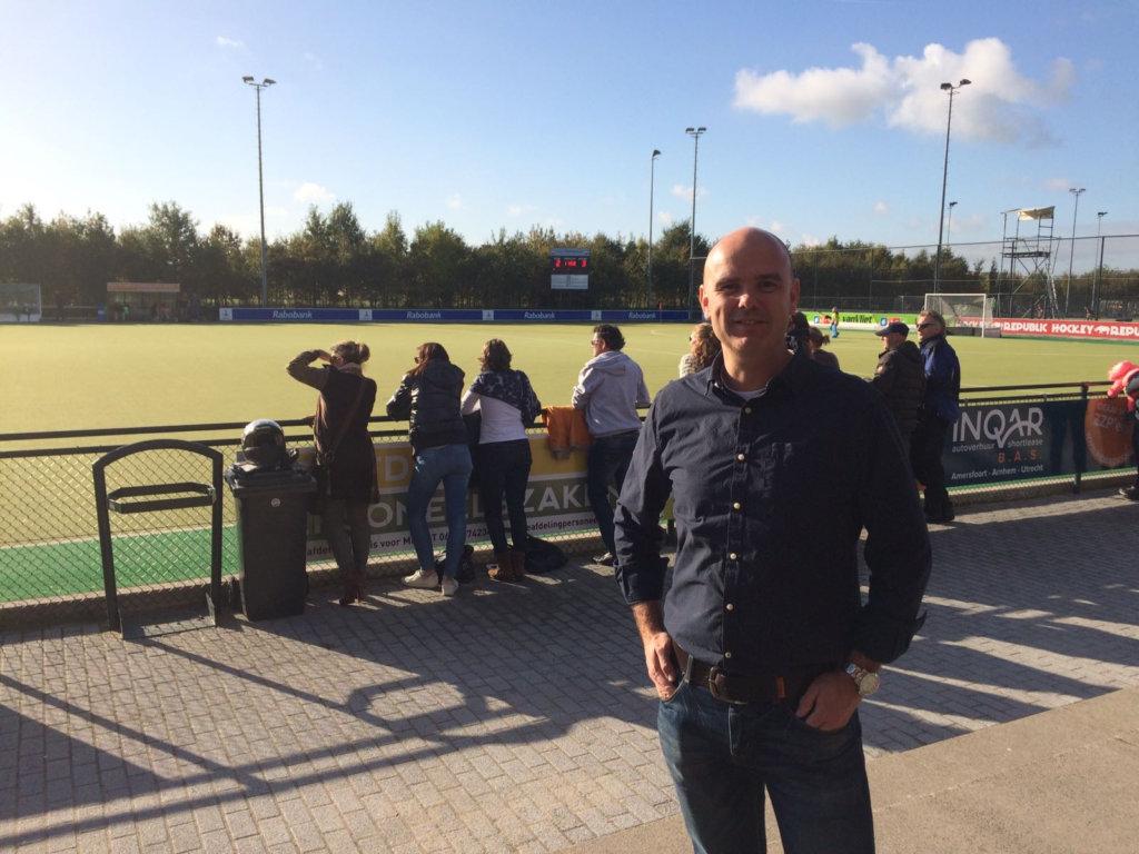 Bestuurslid Bouk Zelissen van Fletiomare. Foto: Hockey.nl