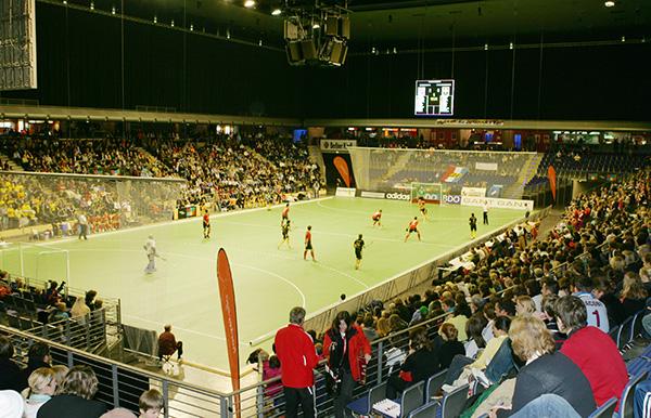 Indoorhockey in Max-Schmeling-Halle Foto: DHB