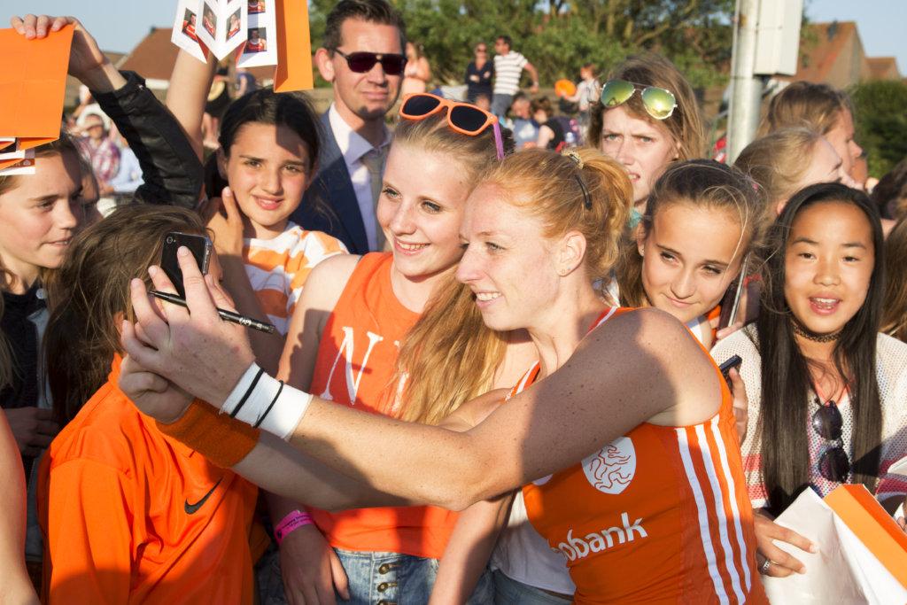 NOORDWIJK - Interland Nederland - Nieuw Zeeland Dames, RaboSuperSerie, Seizoen 2014-2015, 11-06-2015, Nederland - Nieuw Zeeland 3-1, Margot van Geffen.