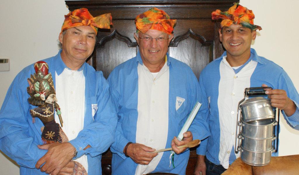 3 oud-voorzitters van de club veilden een rijsttafel