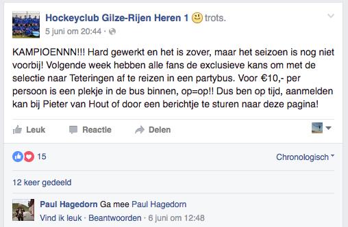 Gilze-Rijen Heren 1 kampioen