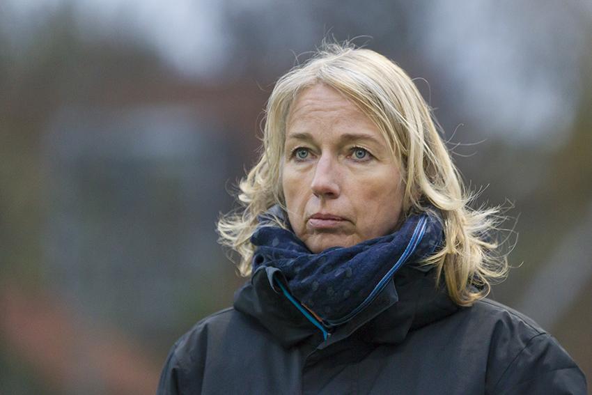 Leidschendam - Cartouche - Schaerweijde, Overgangsklasse Hockey Heren, Seizoen 2016-2017, 20-11-2016, Cartouche - Schaerweijde 0-2, Coach Sonja Thomann