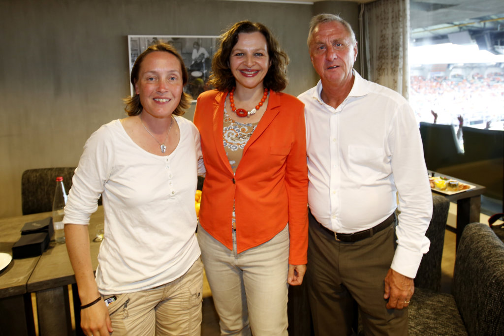 Carole Thate, Edith Schipper en Johan Cruijff. (c) Willem Vernes