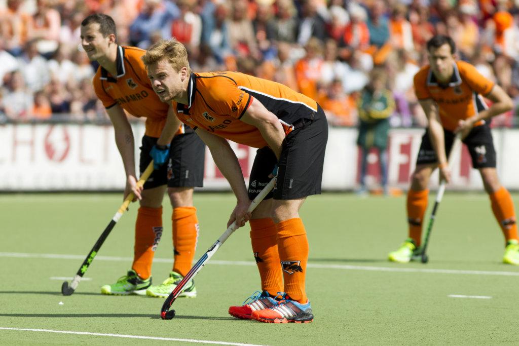 EINDHOVEN - OZ - KAMPONG, FINALE Hoofdklasse Hockey Heren, Seizoen 2014-2015, 14-05-2015, OZ - KAMPONG, Mink van der Weerden en Sander Baart.