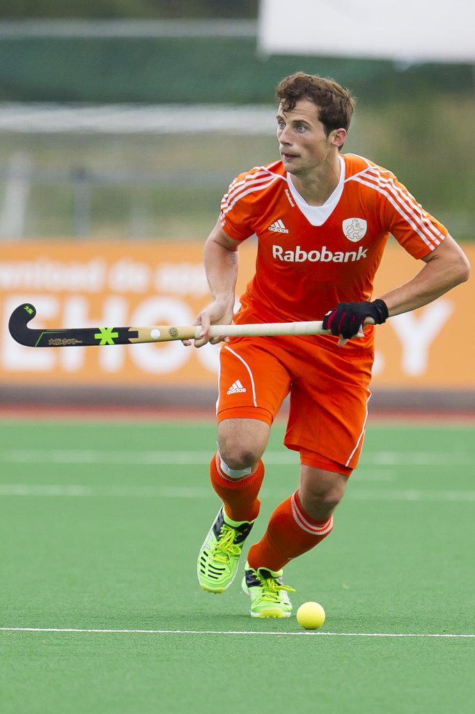 ASSEN - Nederland - Nieuw-Zeeland, Heren, Interland, Rabo Super Serie, Seizoen 2015-2016, 21-06-2016, Nederland - Nieuw-Zeeland 1-0, Sander Baart.