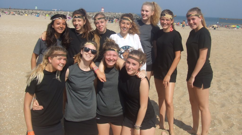 beach hockey camo meisjes team