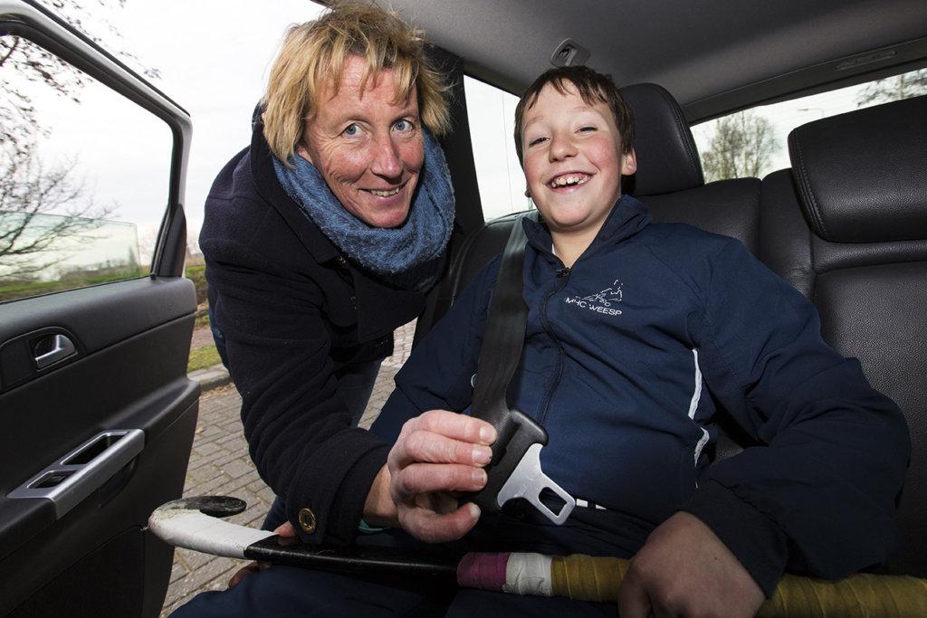 Chantal Mies met haar zoon Jorrit. (c) Willem Vernes
