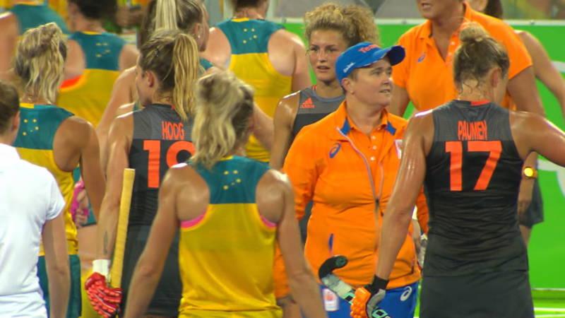 Annan en oranje dames oefenwedstrijd Australie beeld: nos.nl