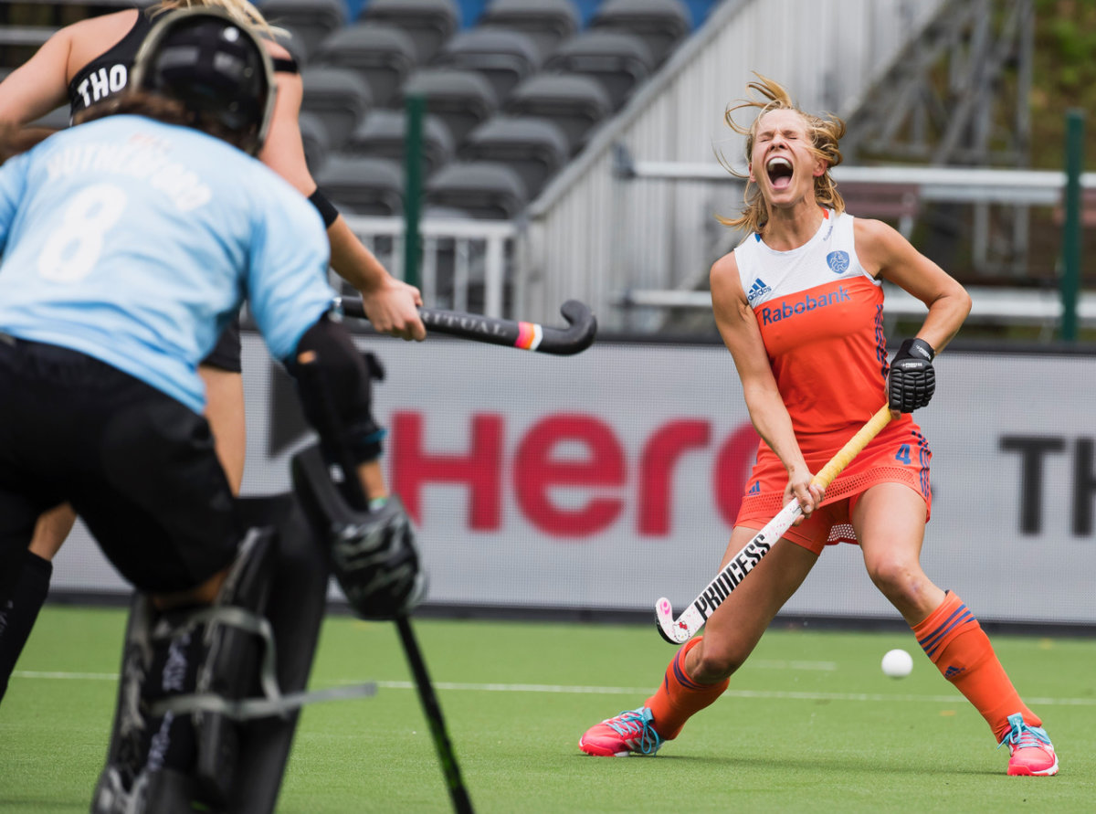 Kitty van Male - Nederland-Nieuw-Zeeland HWL 3 2017 halve finale