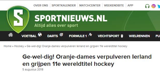 8b36226cb3c991 ... Nederlandse media was er ook veel waardering voor de prestatie van  Oranje