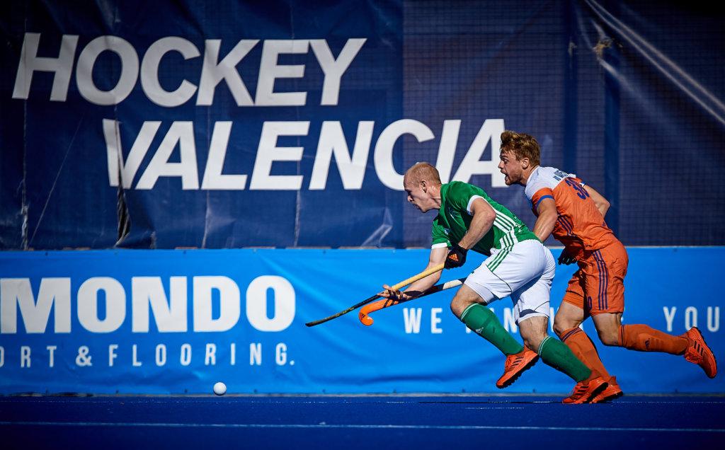 VALENCIA, SPAIN - Ierland schoot zaterdag uit de startblokken tegen Oranje (Foto: David Aliaga/Get Ready Images)