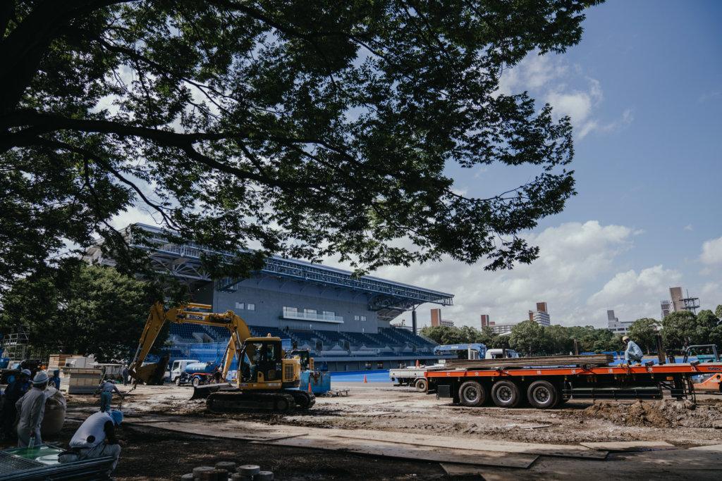 Het veld in het Oi Hockeystadion ligt er al - Foto: Anne Veenendaal