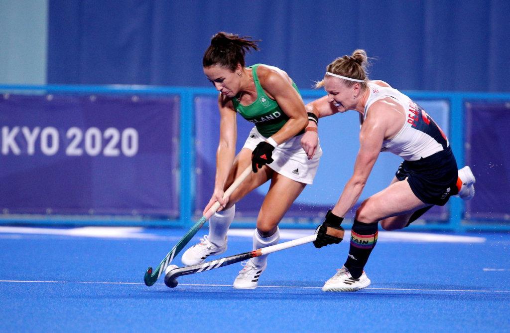 Anna O Flanagan Hollie Pearne Webb Ierland Groot Brittanni%C3%AB FIH Worldsportpics Martin Waichman